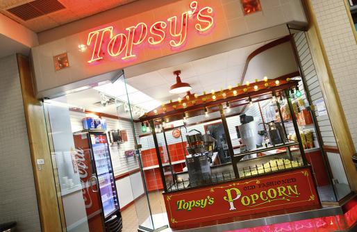 Topsy's Shoppes popcorn machine