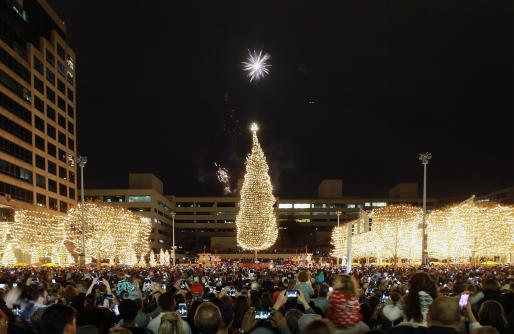 Mayor's Christmas Tree Ceremony with fireworks