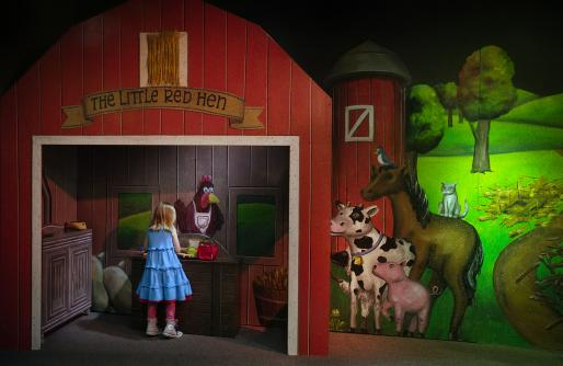 The Little Red Hen Barn and animals