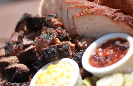 Turkey, Burnt Ends, Beans and Creamy Corn