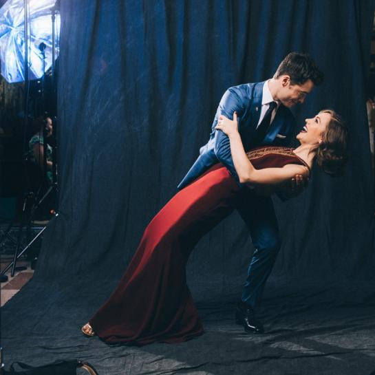Laura Osnes and Corey Cott image