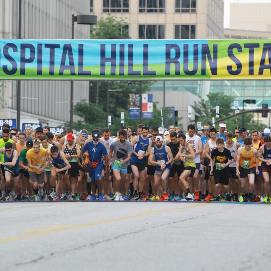 Hospital Hill Run Race Start with Rumners