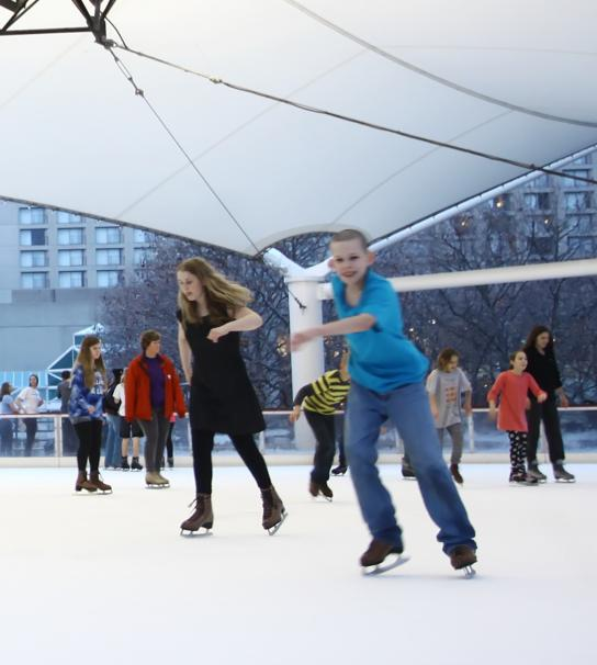 Skaters on the Ice Rink.