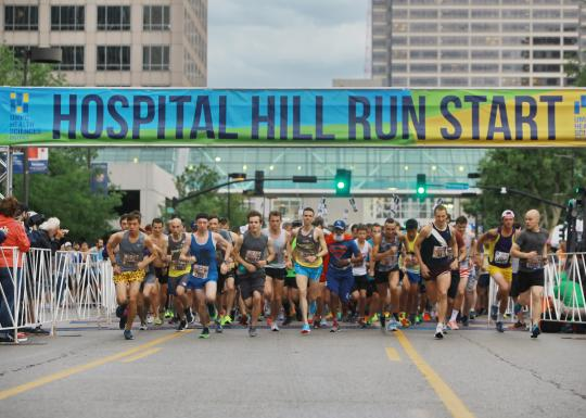 2018 Hospital Hill Run starting line