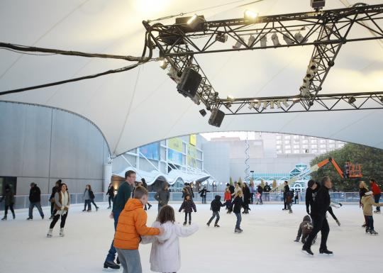 Opening day of the Ice Terrace skate