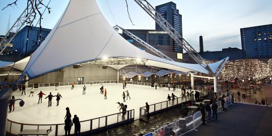Crown Center Ice Terrace with Skaters